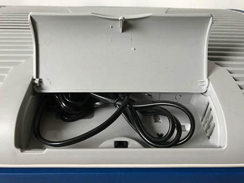 Kabelfach der Xcase Kühlbox