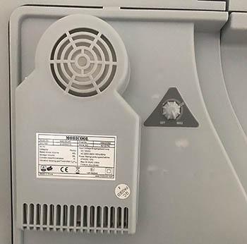 Mobicool W40 Elektronik (Temperaturregler) und Lüfter